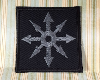 Chaos Star - Patch Pewter