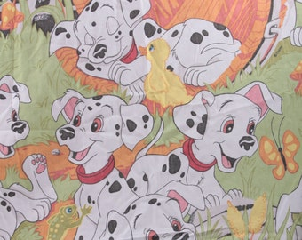 Vintage Disney 101 Dalmatians Twin Fitted Sheet Material fabric 1996 ~ The Pink Room ~ 170624