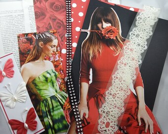 Collage Kit, Fashion Paper Doll, for Junk Journals, Collage Art, Smash Books