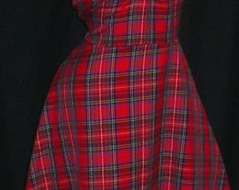 1940s dress, Tartan dress, 40s dress, sizes 6-26, tea dress, dance dress, swing dress, wartime,1950s dress
