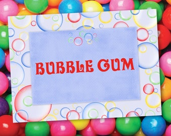 Bright Bubbles Party Labels - INSTANT DOWNLOAD - Editable & Printable Birthday Decorations by Sassaby