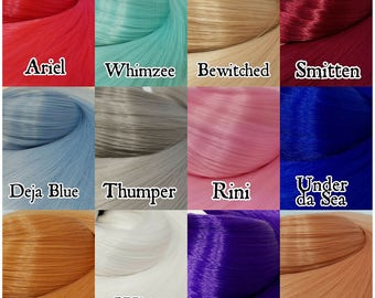 12 Color Variety Pack Nylon Doll Hair for Rerooting Barbie, Monster High, Ever After, Rehair MLP Pony INTL SHIP