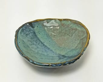 Wabi sabi Smudge bowl, ceramic alter bowl, cleansing bowl, herb smudge, incense pot, home smudge pot, ritual bowl, offering bowl