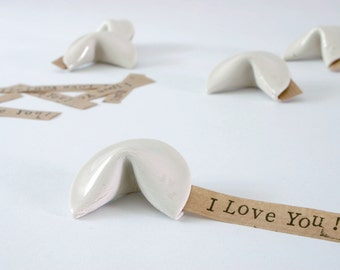 Fortune Cookies // Porcelain // 3D Greeting Cards