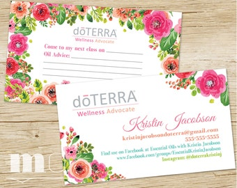 Doterra Marketing Etsy - Doterra business card template