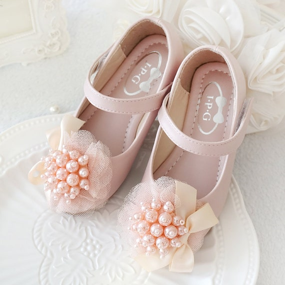 Light pink girls shoes toddler flower girl shoes youth girl like this item mightylinksfo Choice Image