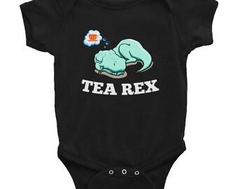 Tea Rex Funny Dreaming Dinosaur Gift Infant Bodysuit