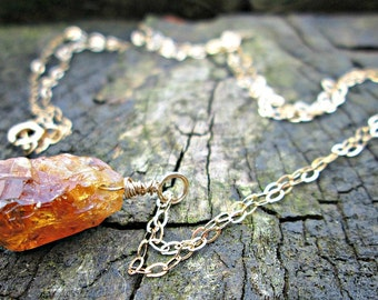 ON THE ROCKS - Citrine & Gold - Autumnal necklace - fall jewelry - Magic in the grass - beautiful jewellery with a cool bohemian twist