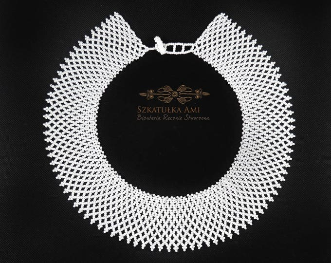 Ruth Bader Ginsburg, lace necklace, victorian necklace, supreme court, beaded necklace, white choker, RBG, lace collar, beaded collar