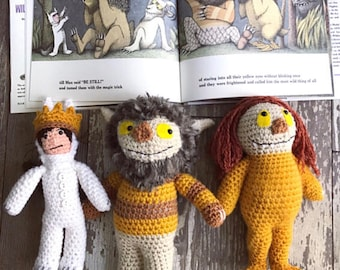 Crocheted Where the Wild Things Are plushie stuffed animal doll toy Photo Prop