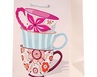 Tea Cup Gift Bag - Tea Party Gift Bag - Small Tea Cup Bag - Treat Bag - Sip and See Gift Bag - Baby Brewing Gift Bag