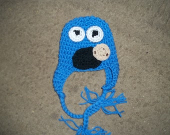 Newborn to Adult Cookie Monster Hat