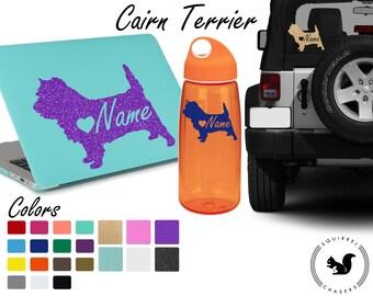 Cairn Terrier Decal, Cairn Terrier Sticker, Custom