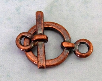 Greek Small Toggle Clasp, Bronze Patina, 2-Sets M131