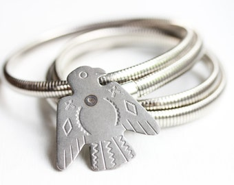 Silver Eagle Coil Belt - M