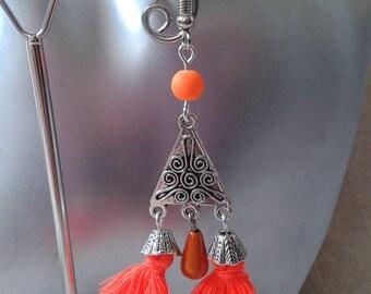 Neon Orange earrings