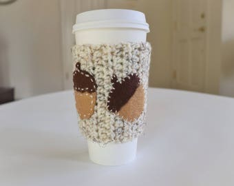 Tall Cup Cozy, Beverage Sleeve, Coffee Lover Gift, Handmade Cup Cozy, Cup