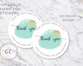 Lipsense THANK YOU Stickers -  Distributor packaging - branding - Digital Download