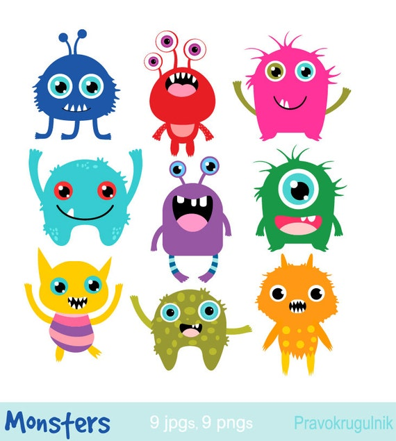 little monsters clipart birthday party monsters monsters rh etsy com monster clipart monster clipart