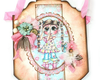 Cute Wall Hanging or Door Hanging - Mixed Media - My Besties