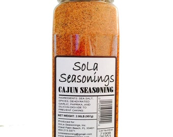 SoLa Cajun Seasoning, 32 oz bottle - the best cajun seasoning -a certified cajun product made in Louisiana by a Louisiana native