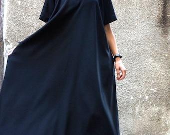 SALE XXL,XXXL Maxi Dress / Black Kaftan / Extravagant Long  Dress / Party Dress / Daywear Dress by Aakasha A03137