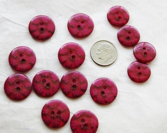 14 Red Buttons, Matching Buttons, Sewing, Crafting  Jewelry (X 59)