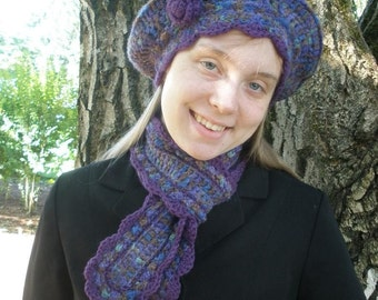 Wooded Glen Crocheted Scarf