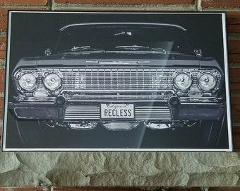 63 Impala Lowrider 11x17 Print Option with or w/o Frame