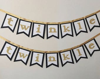 Twinkle Twinkle Banner - Baby Shower Banner - Baby Shower Decor - Twinkle Twinkle Little Star Theme