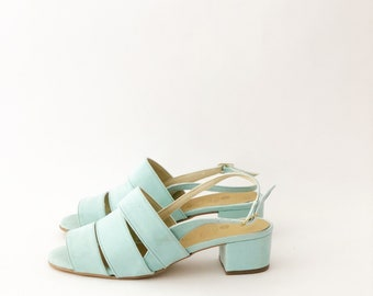 Poppy Faux Leather Strapped Sandals (Handmade to order)