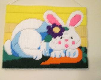 Bunny Long Stitch Wall Hanging