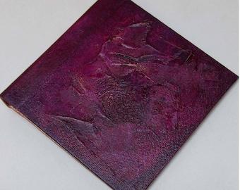 Handmade Refillable Journal Distressed Plum Texture 6x6 Original travellers notebook hardcover fauxdori