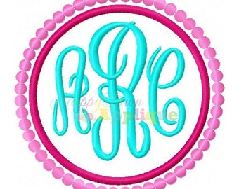 Patch Circle Dots Machine Embroidery Design