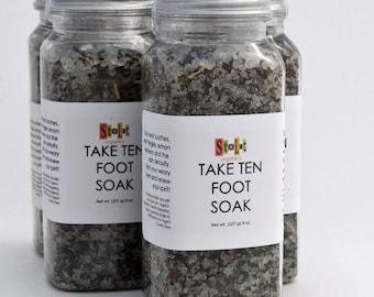 Dead Sea Salt Foot Soak w/ Peppermint and Tea Tree - Take Ten Foot Soak