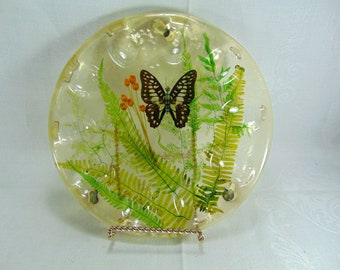 Vintage Resin Butterfly Deviled Egg Plate, Dish