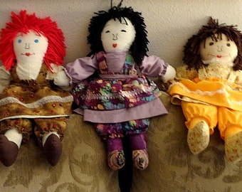 """Rag Dolls-Child Friendly-(Made by request) 20"""" tall per doll."""
