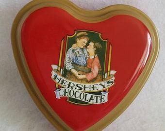 Hershey's Chocolate Heart Shaped Tin