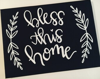 Custom Hand Lettering on 8x10 Canvas