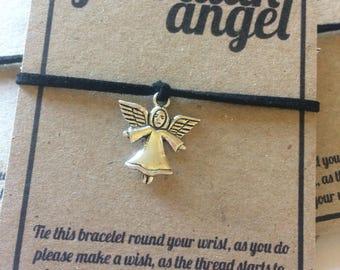 Guardian Angel charm wish bracelet