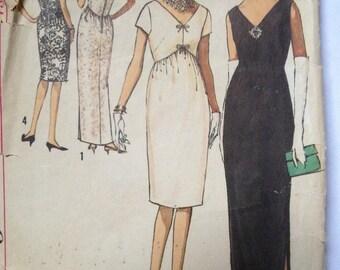 Maternity evening dress, late 1950's