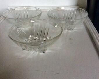 3 Small Bowls