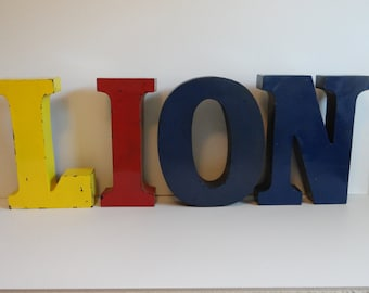 Pick One - Retro Metal Industrial Hanging Letters