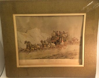 """Interesting older lithograph titled """"The London Mail """" Ketterlonus Lithograph 1930s"""