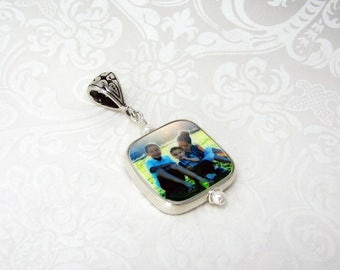 Photo Charm with a Sterling Frame - Custom Jewelry
