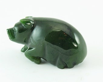 Hand Carved  Pigs,Jade Pigs,Jade Pigs in Vintage,Carved jade Pigs,Hand Carved Jade Pigs,Jade Pigs in Antique,Nephrite Jade Pigs