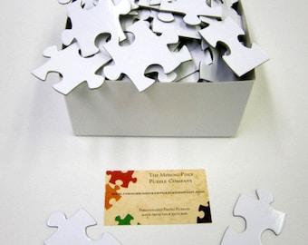 Unique White Wedding Guest Book Puzzle / White Puzzle / Blank Puzzle Pieces that form a 16x20 puzzle when assembled.