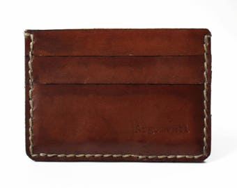 Leather cardholder, wallet, 100% handmade, Argomenti...