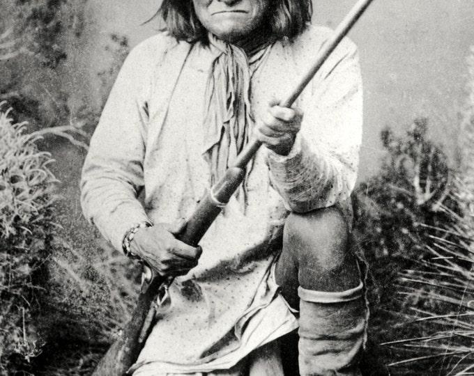 Geronimo, Chiricahua Apache - 5X7, 8X10 or 11X14 Photo (AZ060)