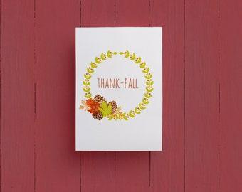Thank-Fall Wreath |  Autumn Print | 8x10
